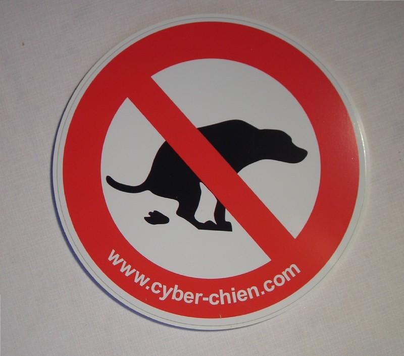 panneau interdiction de laisser defequer son chien cyber chien. Black Bedroom Furniture Sets. Home Design Ideas