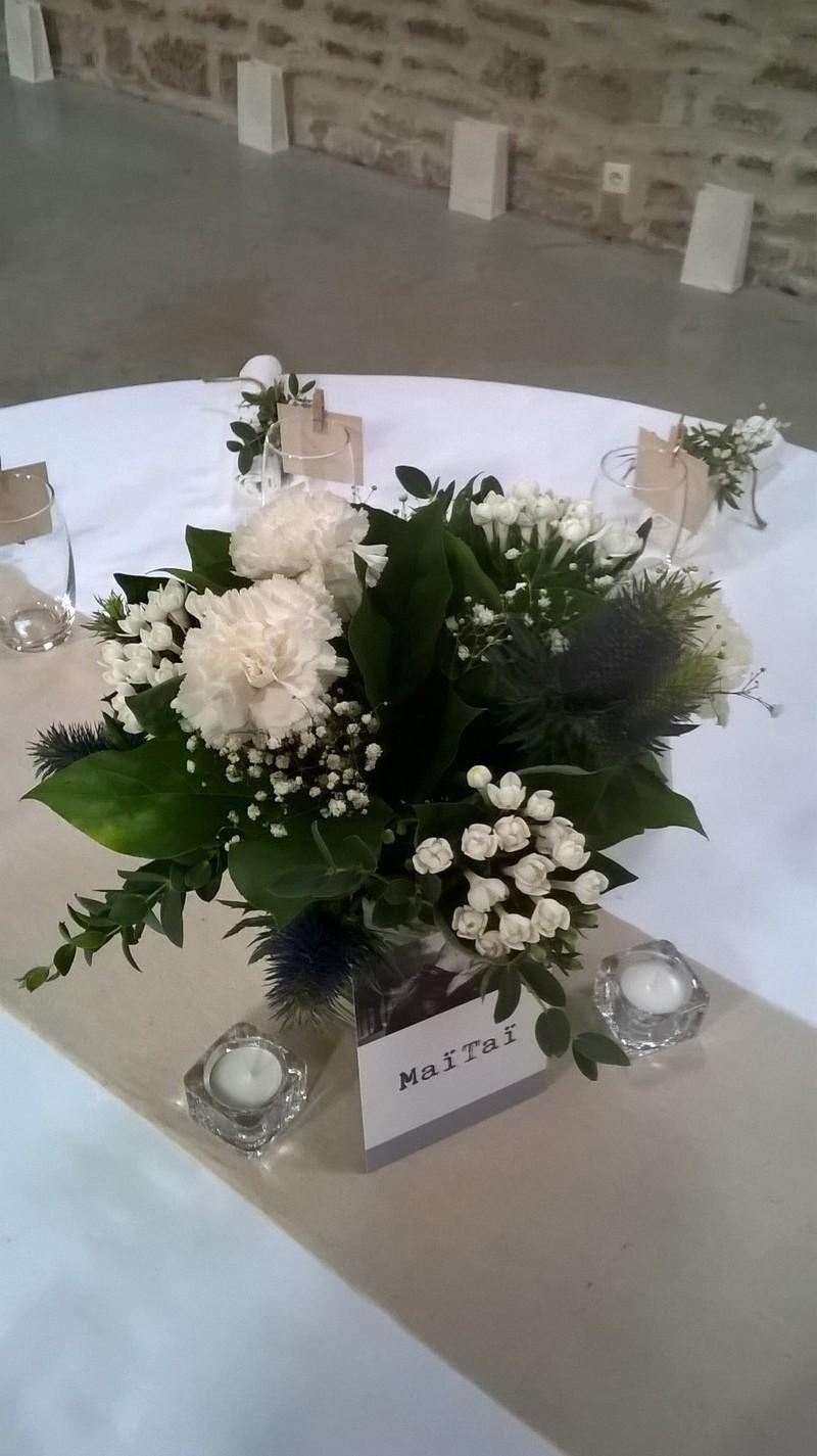 Deco Mariage : Centre de table romantique mariage champêtre chic art